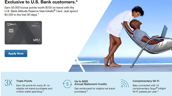 U S  Bank Altitude Reserve Review - 50,000 Point Sign Up Bonus ($750