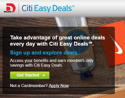 Citi easy deals registration